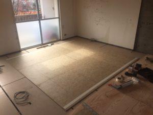 電気式床暖房 敷設前